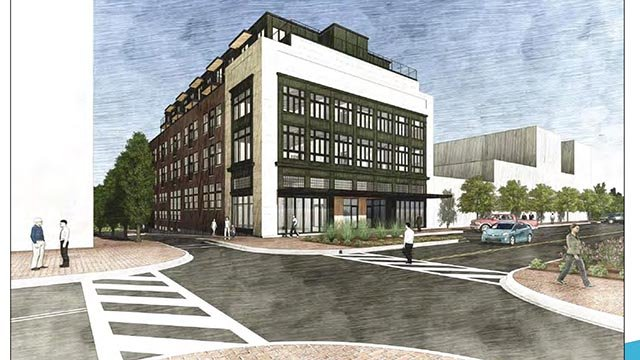 Rendering of Bishop Building renovations. (Source: City of Spartanburg)