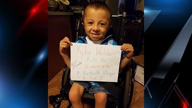 Mother requesting cards for her son Kyler Walden (Source: Kristi Walden)