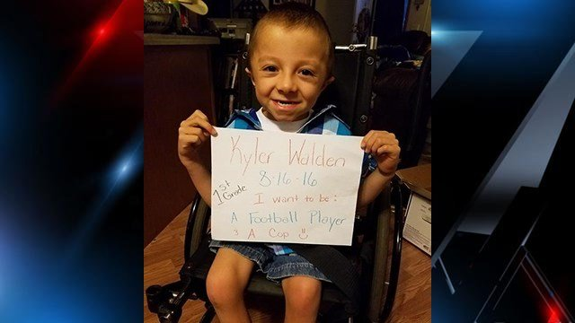 Mother requesting cards for her son Kyler Walden (Source: Kristi Walden)