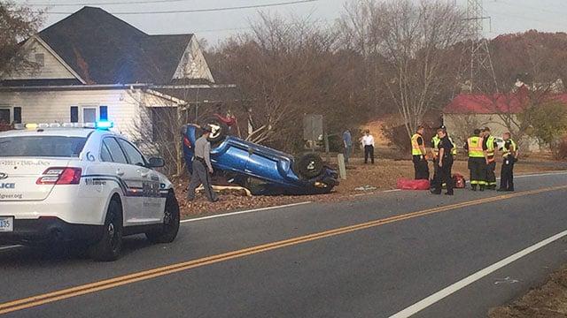 Taylor Road crash (Nov. 27, 2016/FOX Carolina)