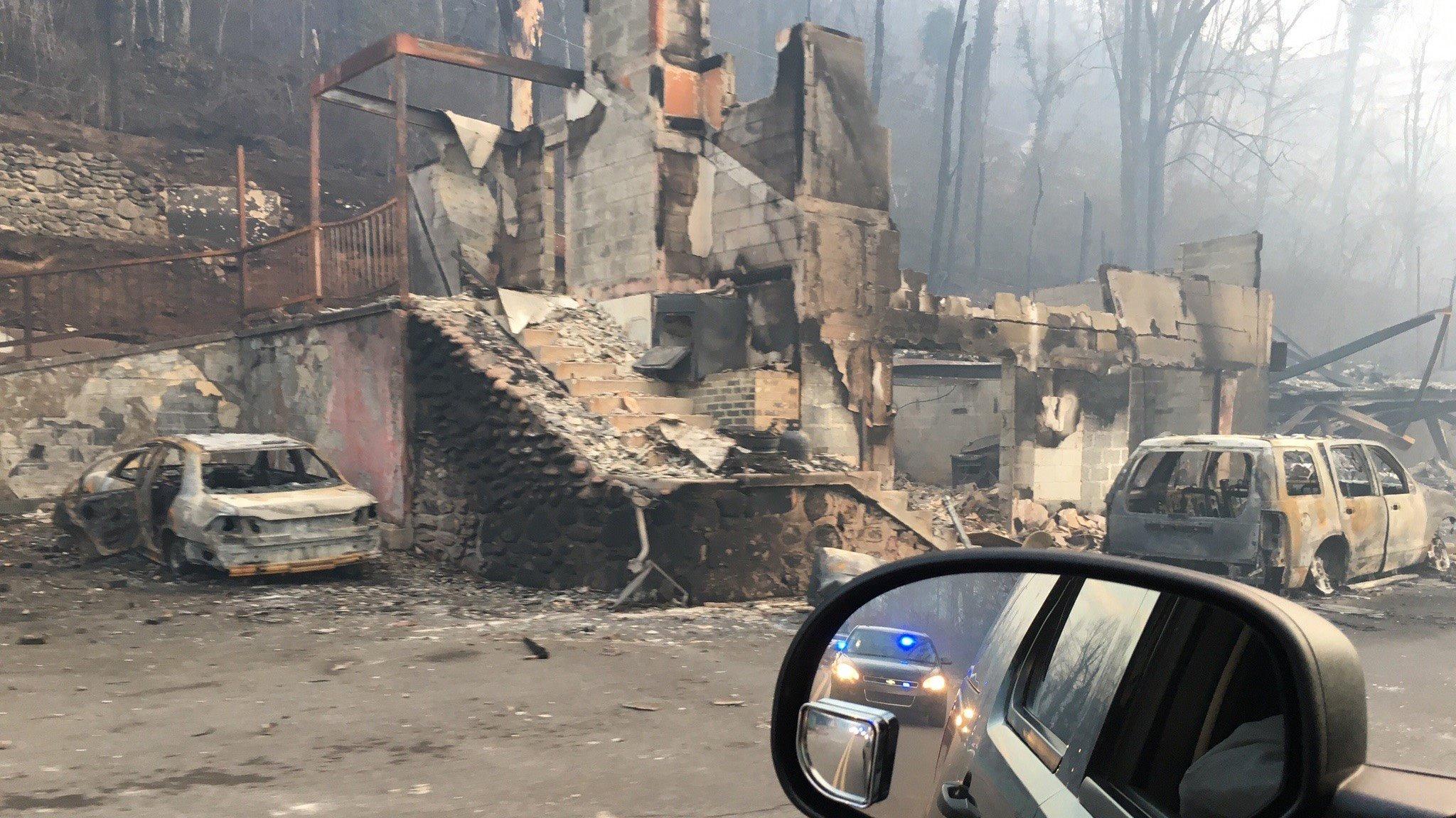 Survey of damaged areas (Courtesy: WBIR)