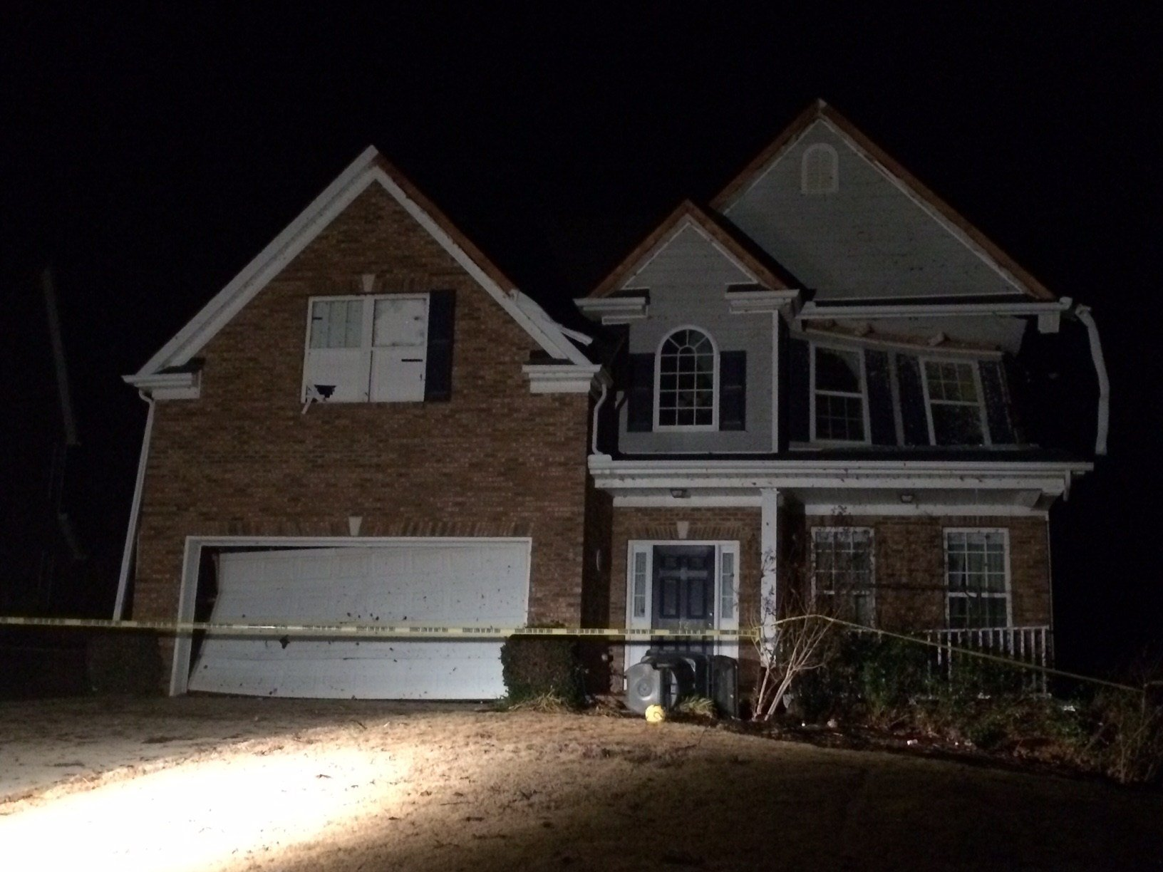 Damage to a home in the Remington neighborhood in Simpsonville (FOX Carolina)
