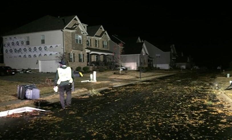 Storm damage in Leafmore Woods (FOX Carolina)