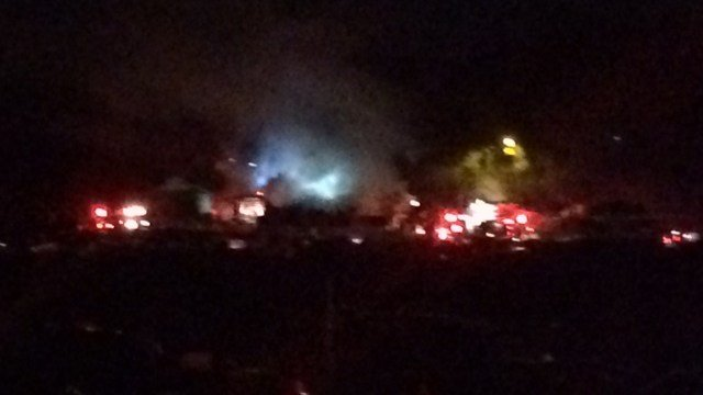 Crews responded to a structure fire in Spartanburg Co. Thursday evening. (FOX Carolina/ 12/1/16)