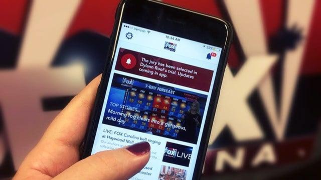 The new FOX Carolina app. (Dec. 7, 2016/FOX Carolina)