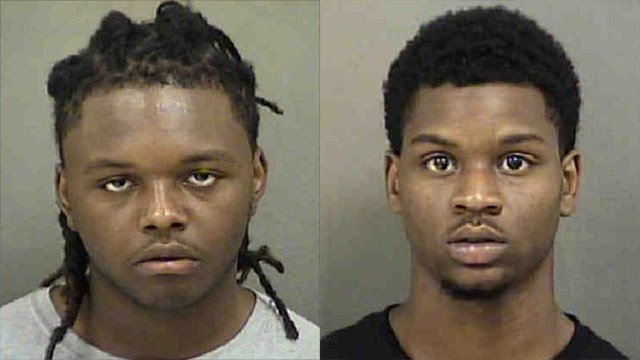 Sahier Richardson (L) and Juran Witherspoon in earlier mugshots (Source: Mecklenburg Co. Detention)