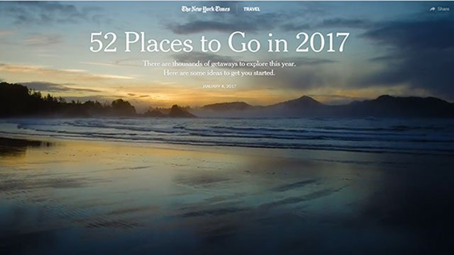 Nft Nyt 52 Places To Go In 2017 Big Blue Interactive