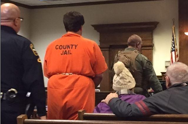Kohlhepp in court Thursday, Jan. 5, 2017 (FOX Carolina)