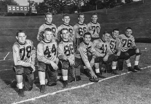 Gressette (No. 44, second from left, bottom row) was team captain for the Clemson Tigers in the early 1950s (Courtesy: CU Twitter)
