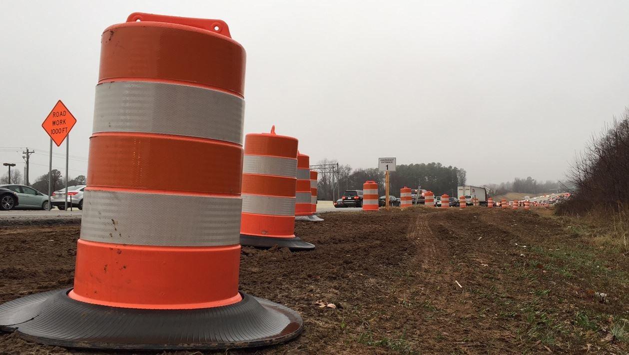 Interstate construction (FOX Carolina/ Jan. 17, 2017)