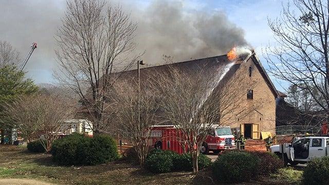 Fire at Advent UMC (Feb. 8, 2017/FOX Carolina)