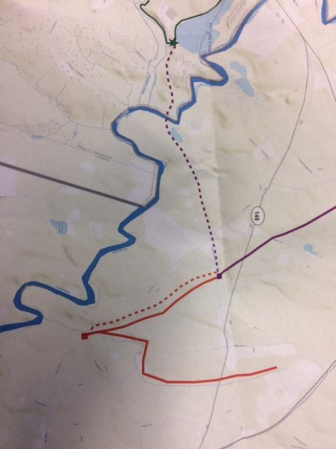 Map of proposed sewer line near Hwy. 417 (FOX Carolina)