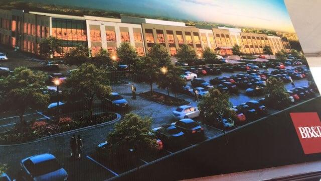 Artist's rendering of the new BB&T facility (FOX Carolina/ Feb. 16, 2017)
