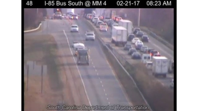 Scene on I-85 at Exit 4. (Source: SCDOT)