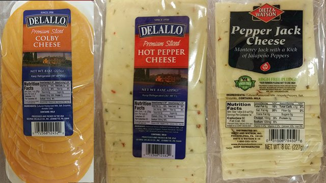 Cheese products being recalled due to potential contamination of Listeria (Source: US Food & Drug Administration)