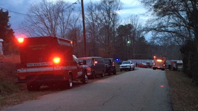 Search at Roach Circle (Feb. 21, 2017/FOX Carolina)