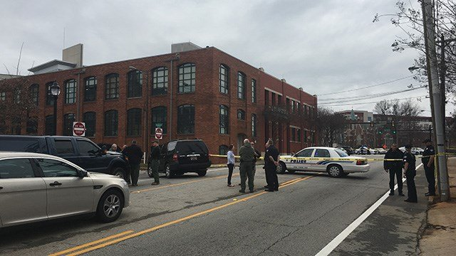 Roads closed in downtown Greenville after suspicious item found. (FOX Carolina/2/22/17)