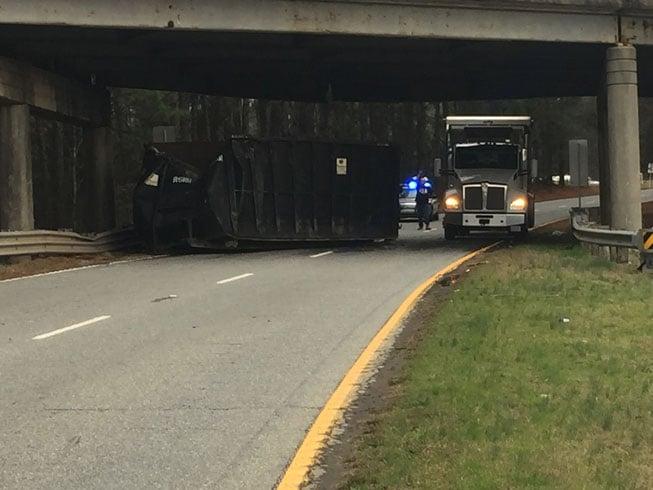 Bridge crash on U.S. 29 (Feb. 22, 2017/FOX Carolina)