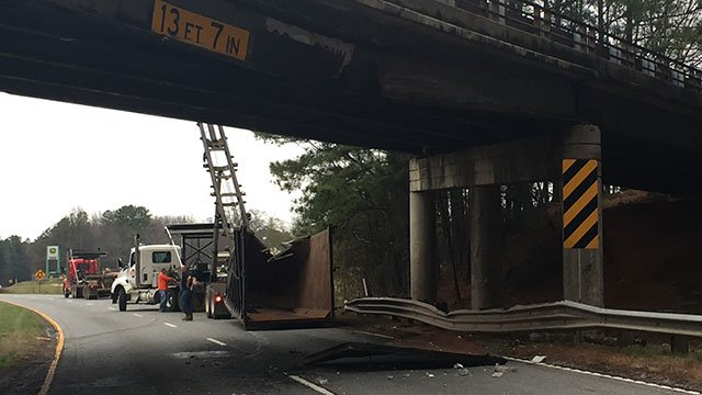 Bridge crash on U.S. 29 (Feb. 22, 2017/FOX Carolina)