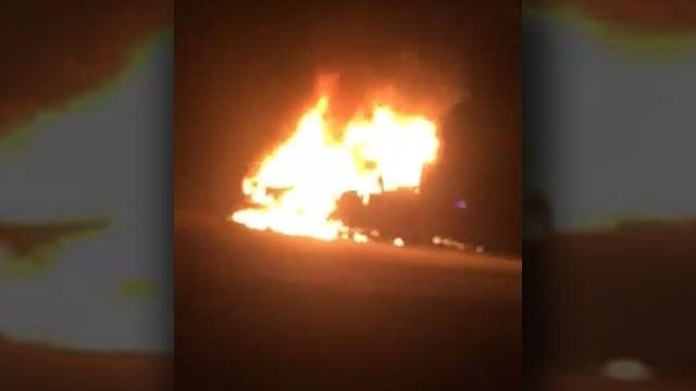 Care fire on I-85 (Courtesy: Zachary Kay)