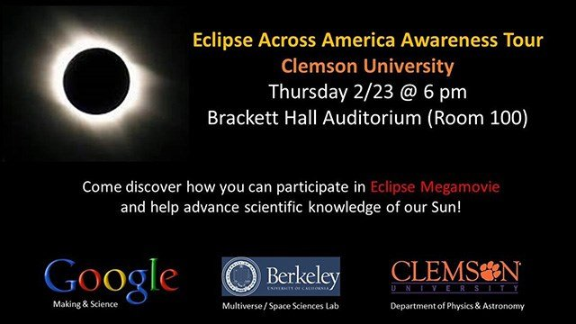 Eclipse Across America Awareness Tour (Source: City of Clemson)