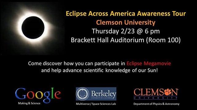 Eclipse Across America Awareness Tour (Source: City of Clemson)