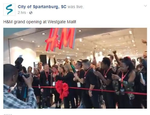 H&M grand opening (Source: Facebook/City of Spartanburg)