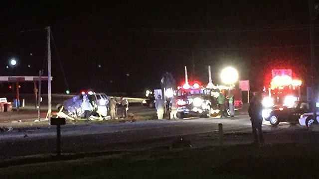 Scene of fatal Belton crash involving 18-wheeler truck and vehicle. (FOX Carolina/2/24/17)