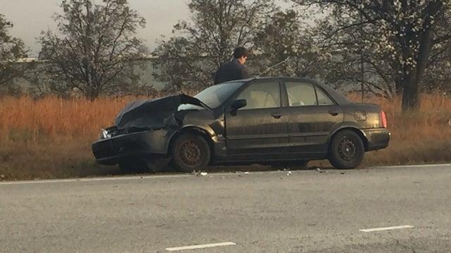Scene of Spartanburg Co. crash. (FOX Carolina/ 2/24/17)