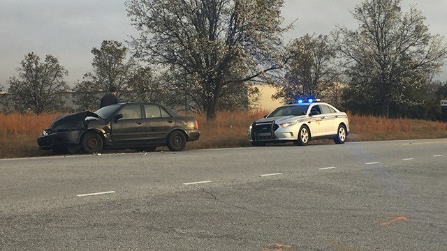 Scene of Spartanburg Co. crash. (FOX Carolina/ 2/24/17)