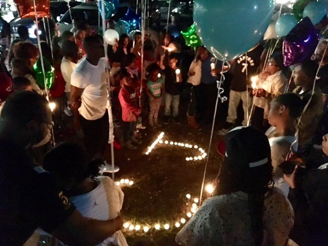 Candlelight vigil for Lawrence and Julian (Feb. 24, 2017/FOX Carolina)