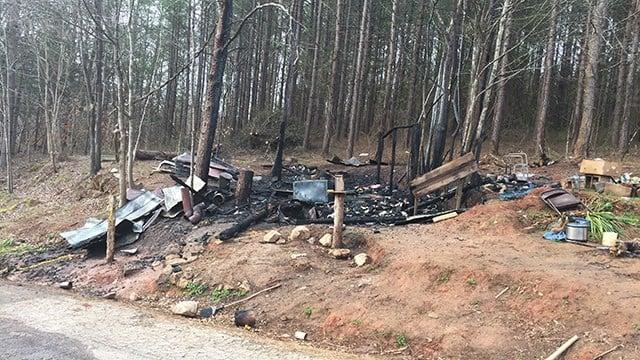 Scene of Landrum house fire. (FOX Carolina/ 2/25/17)