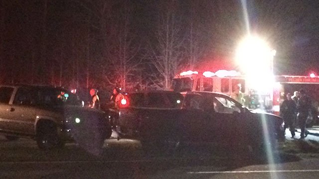 Scene of fatal motorcycle accident in Anderson Co. (Feb 26, 2017 FOX Carolina)
