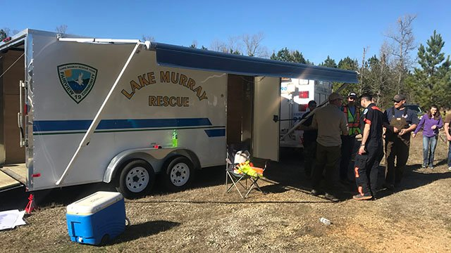 Scene of search for missing teen. (Feb 26, 2017 FOX Carolina)