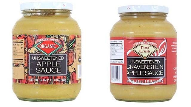 Trader Joe's Unsweetened Apple Sauces (Source: FDA)