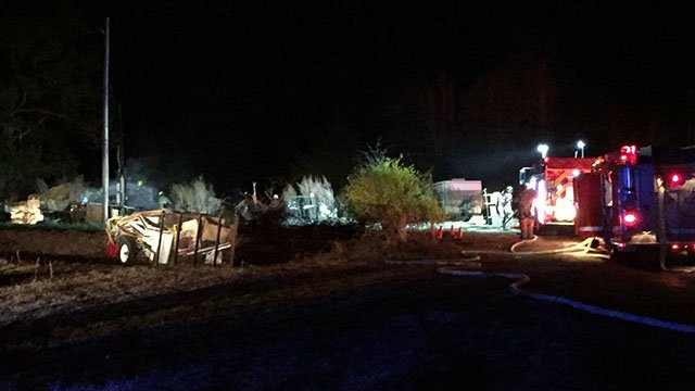 Scene of house fire on Brooksmore Road (Source: Fire chief)