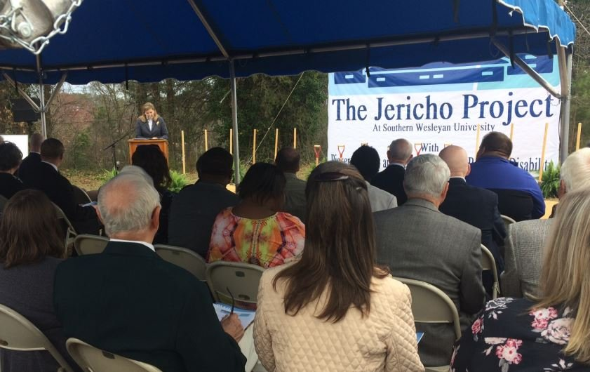 Officials gather to break ground on the Jericho Project (FOX Carolina/ Feb. 27, 2017)