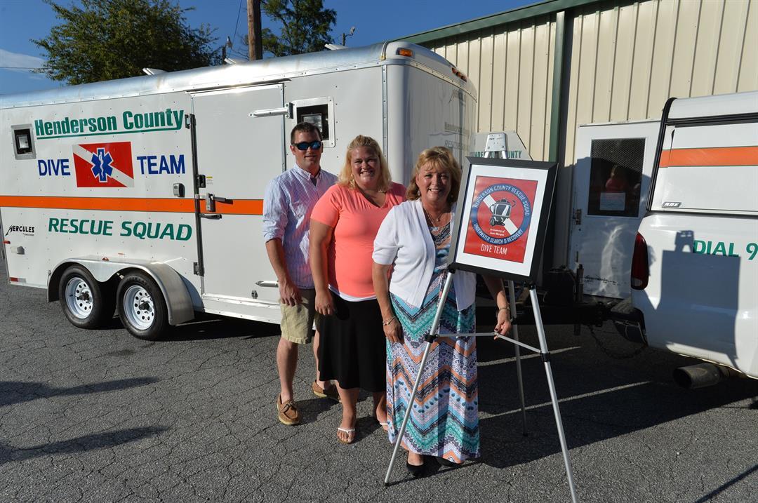 Jared Morgan, Autumn Morgan and Cindy Morgan. Sam Morgan's family  (Source: Henderson Co. Rescue Squad)
