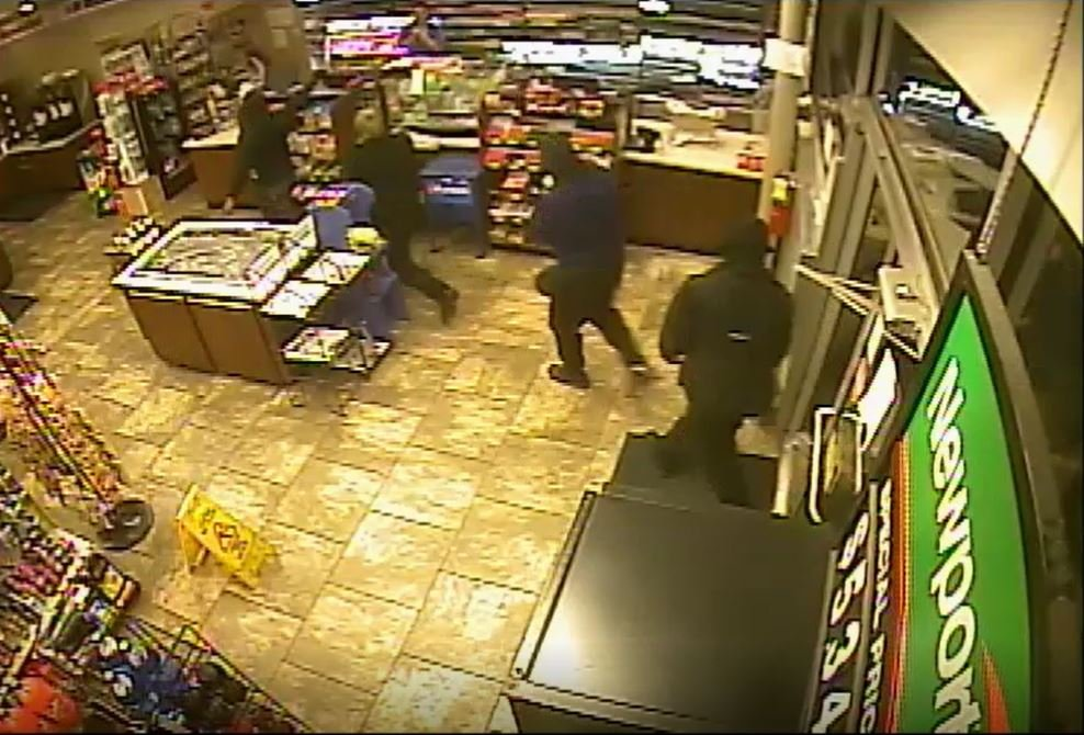 Four suspects caught on surveillance video (Source: ACSO)