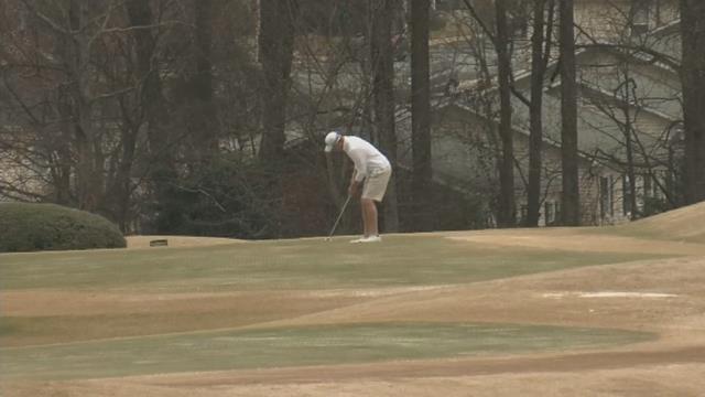 Golfer on a course. (FOX Carolina/ March 1, 2017)