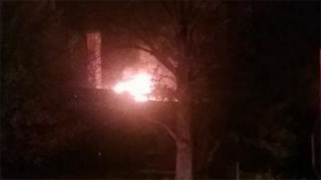 Scene of mill fire in Oconee Co. (Source: Witness)
