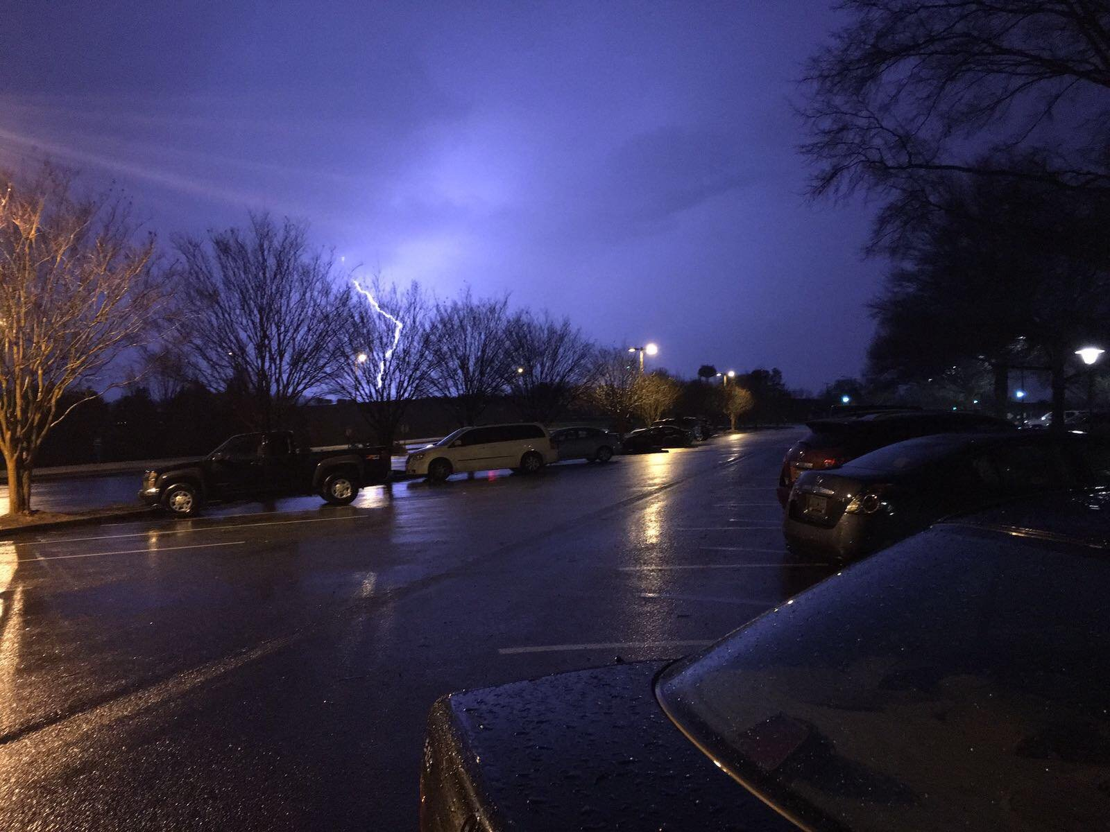 Storms in Duncan, SC. (Source: Witness)