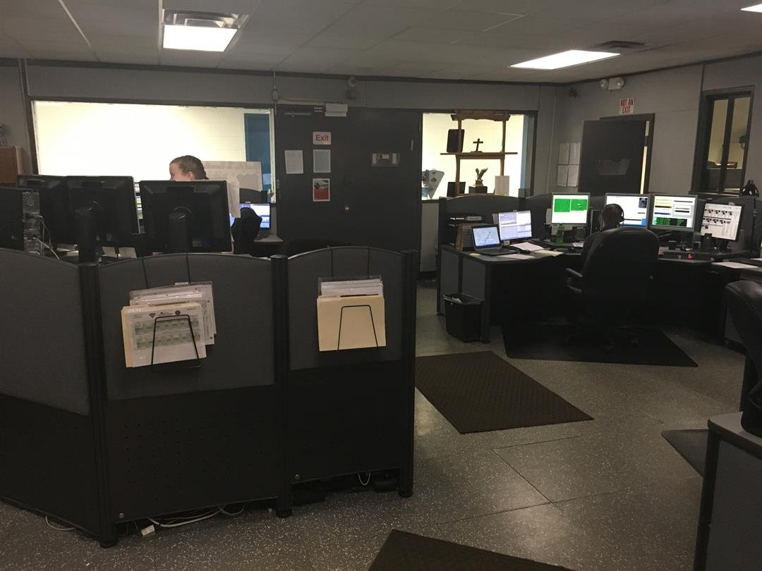 Dispatchers respond to calls during Wednesday's storm