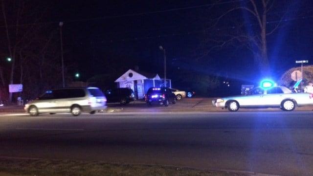 Scene of crash involving vehicle and pedestrian in Greenville Co. (FOX Carolina/ 3/3/17)