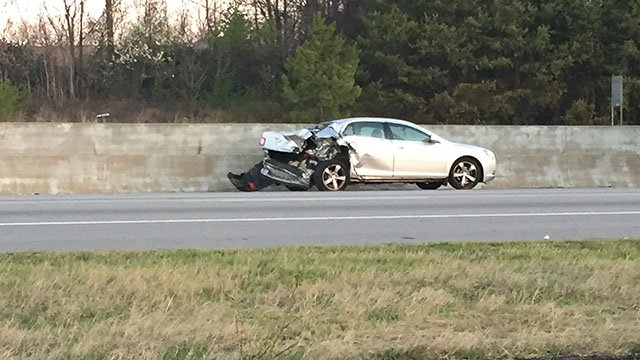 Scene of collision on I85-N. (March 4, 2017 FOX Carolina)