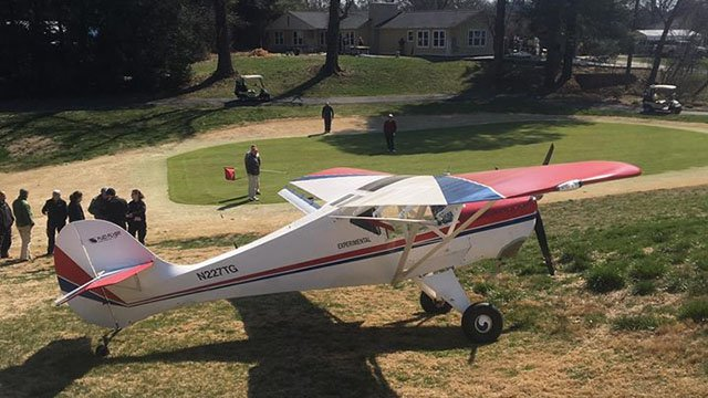 Plane makes emergency landing at Hendersonville County Club. (Source: Valley Hill Fire & Rescue)