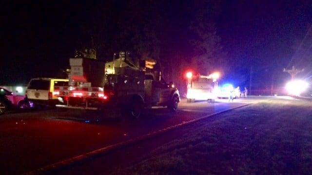 Scene of Anderson Co. crash along SC 81. (FOX Carolina/3/4/17)