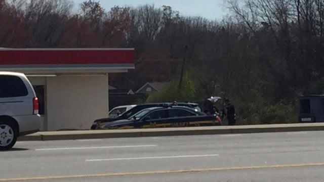 Search underway for suspect at Citgo Corner Market. (March 5, 2017 FOX Carolina)