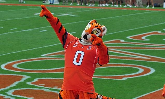 Clemson's Tiger mascot (Wikimedia Commons)