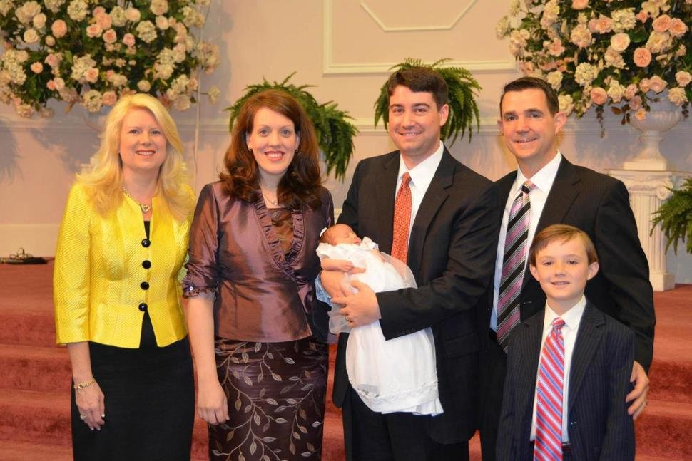 At second right is Frank Webster, an assistant North Carolina prosecutor who is married to church leader Jane Whaley's daughter, Robin, left.  (AP Photo)